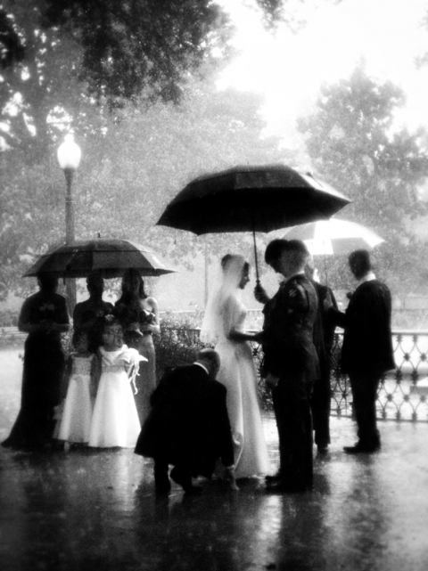 savannah georgia rain wedding